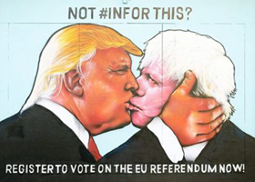 Trump / Boris mural Bristol #INFORTHIS? | click here for more