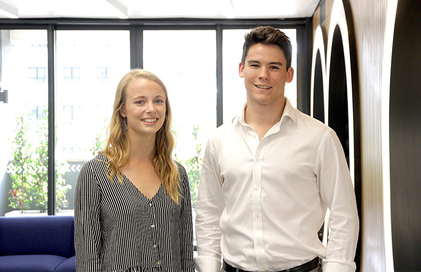 Zoe Day (left) and George Matthews (right) join the Childs+Sulzmann Bristol team